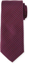 Neiman Marcus English Woven Silk Tie, Red