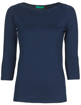 Benetton 3GA2E16A1 women's Long Sleeve T-shirt in Blue