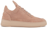 Filling Pieces Women's Monotone Stripe Low Top Trainers Nude