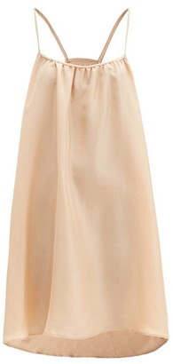 Loup Charmant Racerback Silk-satin Mini Dress - Nude