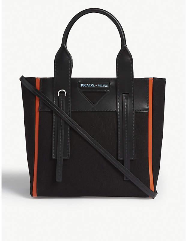 5d542bfc42b051 Prada Canvas Tote Bag - ShopStyle