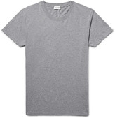 Saint Laurent - Slim-fit Mélange Cotton-jersey T-shirt