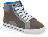 Florsheim Boys) Grey Varsity High Top Sneakers