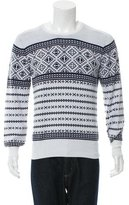 Michael Bastian Patterned Crew Neck Sweater