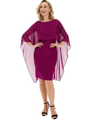 Gina Bacconi Cape Overlay Dress
