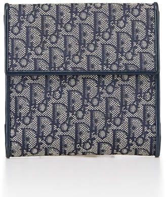 Christian Dior Trotter Logo Canvas Logo Wallet