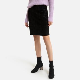 Vila Suede Knee-Length Skirt