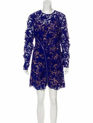 Self-Portrait Long Sleeve Floral Lace Dress w/ Tags