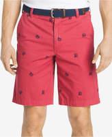 Izod Men's Cotton Crab-Print Shorts