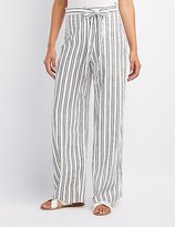 Charlotte Russe Striped Tie-Front Palazzo Pants