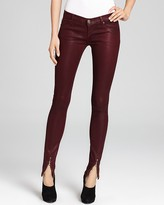 Hudson Jeans Juliette Waxed Super Skinny with Ankle Zip