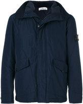 Stone Island hooded windbreaker jacket