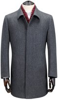 Ding Tong® Cashmere Wool Silk Blends Coat Men Single Breasted Overcoat (XXL)