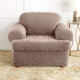 Sure Fit Stretch Jacquard Damask 2-pc. T-Cushion Chair Slipcover