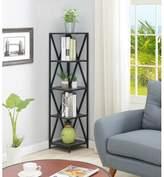 Andover Mills Abbottsmoor Metal 5 Tier Corner Bookcase Color: Weathered Gray/Black