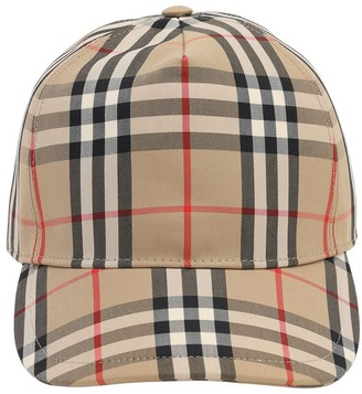 Burberry Vintage Check Cotton Blend Baseball Hat