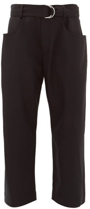 Proenza Schouler Paperbag High-rise Wool-twill Trousers - Black