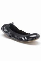 Yosi Samra Patent Ballet Flat in Black