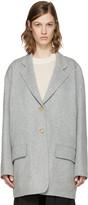 Acne Studios Grey Lupi Doublé Coat