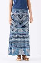 J. Jill Printed Knit Maxi Skirt
