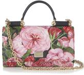 Dolce & Gabbana Mini Von peony-print leather cross-body bag