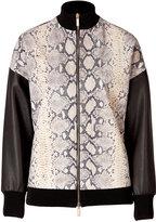 Ungaro Python Printed Leather Jacket