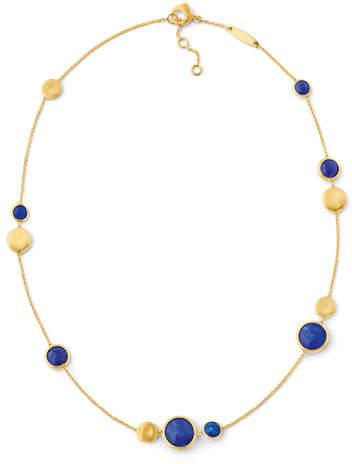 Marco Bicego Jaipur 18K Gold Lapis Station Necklace