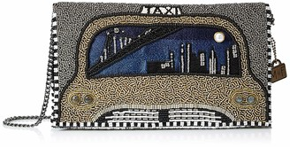 Mary Frances New York Nights Beaded-Embroidered Taxi Cab Crossbody Clutch Handbag