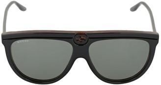 Gucci Gg0732s Logo Engraved Acetate Sunglasses