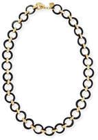 Ashley Pittman Mtego Round Dark Horn Link Necklace