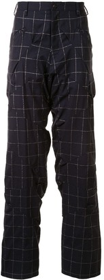 Sulvam Stitched Check Trousers