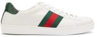 Gucci Ace Leather Trainers - Mens - White Multi