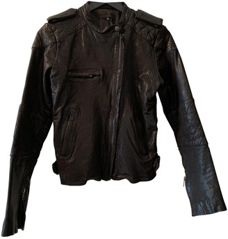 Joe's Jeans Black Leather Leather Jacket for Women