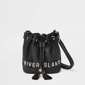 River Island Girls black mini duffle bag