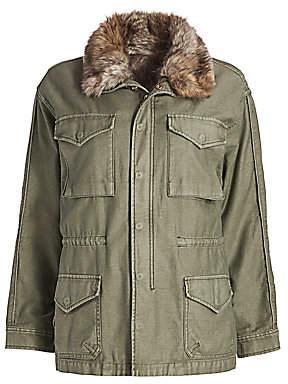 Frame Women's Faux-Fur Lined Service Jacket