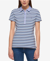 Tommy Hilfiger Striped Chambray-Collar Polo, Created for Macy's