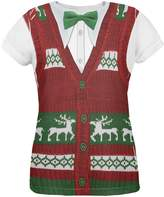 Old Glory Ugly Christmas Sweater Vest All Over Womens T-Shirt