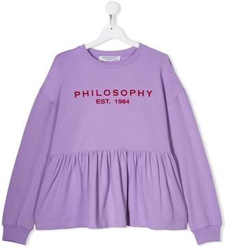 Philosophy di Lorenzo Serafini Kids TEEN logo print top