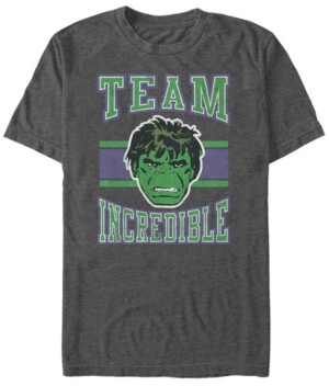 Marvel Men's Classic Hulk Team Incredible Collegiate, Short Sleeve T-Shirt