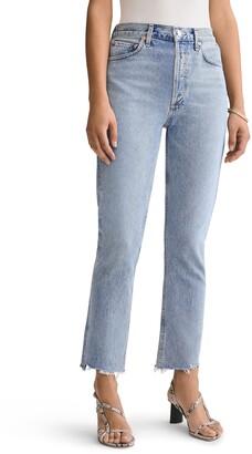 AGOLDE Riley High Waist Step Hem Jeans