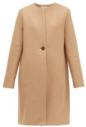 Harris Wharf London Single Breasted Pressed Wool Coat - Womens - Camel