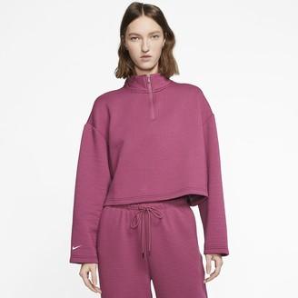 Nike Women's 1/4-Zip Top Sportswear Tech Fleece