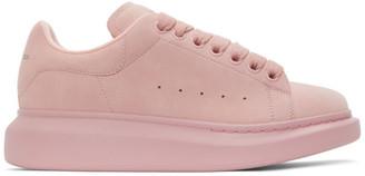 Alexander McQueen SSENSE Exclusive Pink Suede Oversized Sneakers