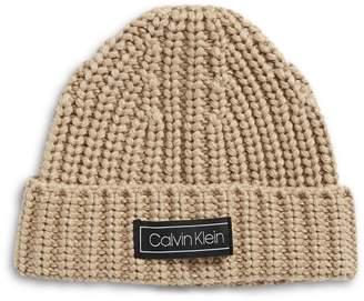 Calvin Klein Rib Fitted Cuff Beanie
