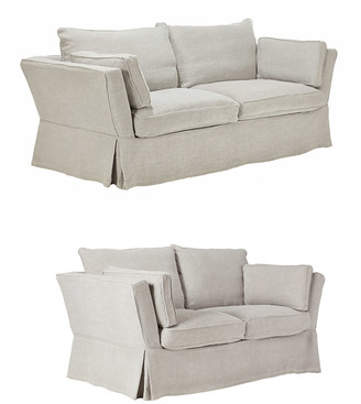 OKA Aubourn Sofa Set - Silver Grey