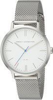 French Connection Men's FC1263SM Analog Display Quartz Silver Watch
