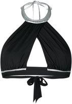 La Perla halter Waves bikini top - women - Nylon/Spandex/Elastane - 32C