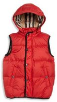 Burberry Little Boy's & Boy's Quilted Hoodie Vest