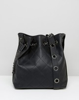 Marc B Rivet and Chain Detail Duffle Bag