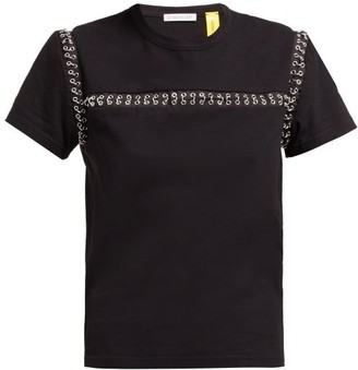 6 Moncler Noir Kei Ninomiya - Chain Seams Cotton T-shirt - Black